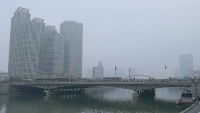 City View of Tianjin, China