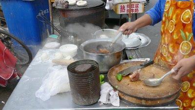 Making Chinese Hamburger, Tianjin, China