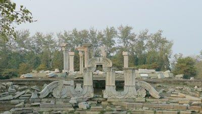 The Ruins of Dashuifa Fountain at the Old Summer Palace, Beijing, China