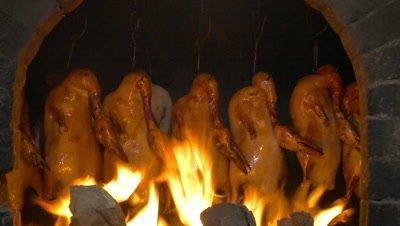 Peking Roast Duck in Stone Oven, Beijing, China