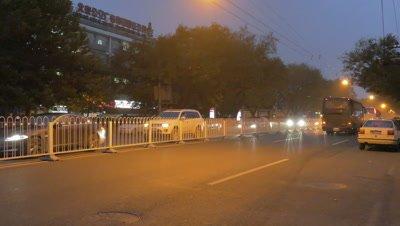 Street View of Beijing at Night, China
