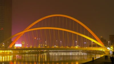 Time Lapse of Dagu Bridge, Tianjin, China