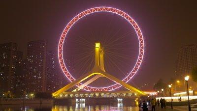 Time Lapse of Tianjin Eye, Tianjin, China