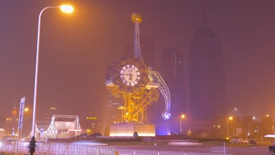 Time Lapse of Centenary Clock, Tianjin, China