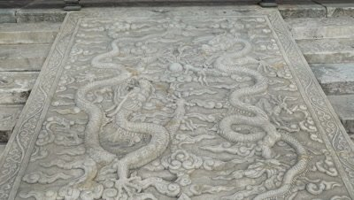 Stone Carving at Forbidden City, Beijing, China