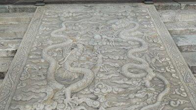 Stone Carving at Forbidden City, Beijing, China