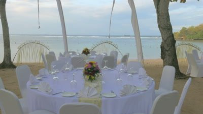 Arranged Table at Nusa Dua Beach, Bali, Indonesia