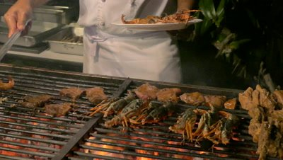 Grilled Seafood at Nusa Dua Beach, Bali, Indonesia