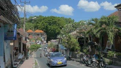 Street View of Ubud, Bali, Indonesia