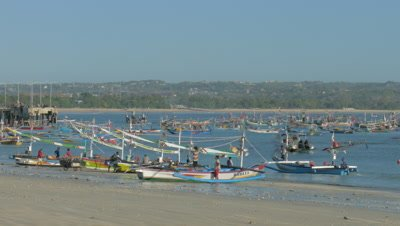 Fishing Boat at Jimbaran Beach, Bali, Indonesia