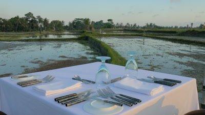 Pastoral Dining in Ubud, Bali, Indonesia