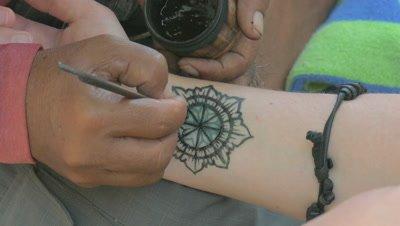 Tattoo at Kuta Beach, Kuta, Bali, Indonesia