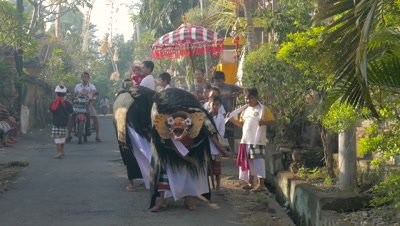 Barong and Rangda, Ubud, Bali, Indonesia