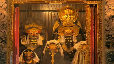 Image of Barong and Rangda in Temple Festival, Ubud, Bali, Indonesia