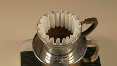 Filtering Coffee Grounds