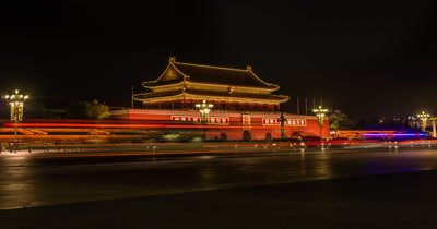 Time Lapse of Tiananmen Square, Beijing, China