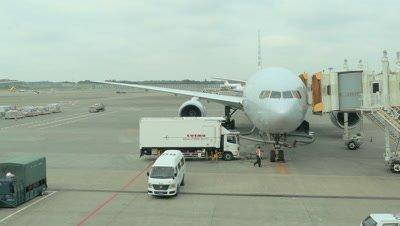 Airplane Parked at Narita Airport, Narita, Japan