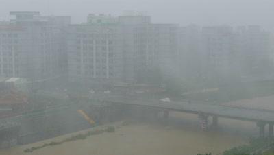 Strong Typhoon Hitting Taiwan