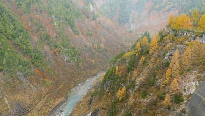 Tateyama Kurobe Alpine Route in Autumn, Nakashinagawa, Japan