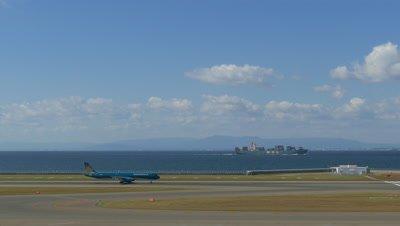 Airplane Taking off at Chubu International Airport, Tokoname, Japan