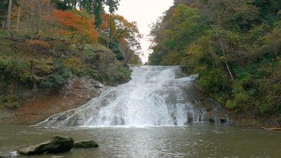Awamata Waterfall in Yoro-keikoku Valley, Chiba, Japan