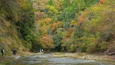 Yoro-keikoku Valley in Autumn, Chiba, Japan