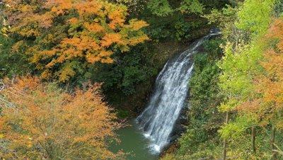 Ozawamata Waterfall in Yoro-keikoku Valley, Chiba, Japan