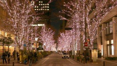 Illumination at Marunouchi, Tokyo, Japan