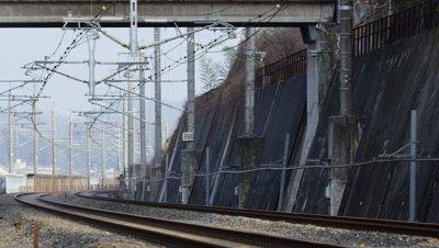 Shinkansen, Series 500, Hofu City, Yamaguchi Prefecture, Japan