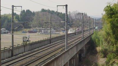 Tohoku Shinkansen Hayabusa, Miyagi Prefecture, Japan