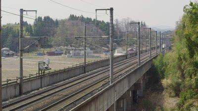 Tohoku Shinkansen E2, Miyagi Prefecture, Japan