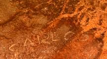 Graffiti Written In Algae Grand Prismatic Spring Yellowstone National Park