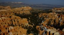 Red Rock Mesa With Ledges Of Cut Stone Spires, Utah.