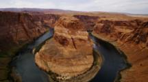 Horseshoe Bend, Arizona, Mesa And Colorado River.
