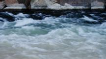 Close Up River Rapids At Lees Ferry, Mixed Color Waters, Fast Current.