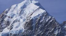 Southern Alps, Pan To Summit Of Aoraki, Mount Cook