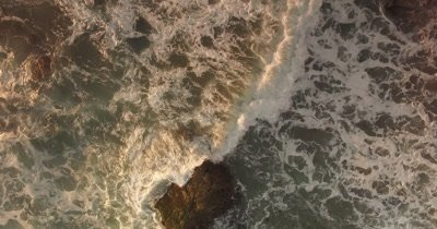 Ocean Aerial Rock Outcrop