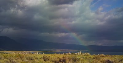 Eastern Sierra Nevada, Mono Lake rainbow