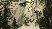 Snowy Waterfall, Zoom In