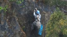 Climber On Cliff For Condor Rescue