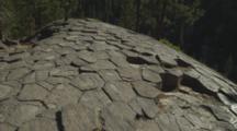 Pan Of Top Of Devils Postpile Columnar Basalt Formation.