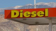 Signage Diesel, Mountain Background