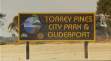 Torrey Pines City Park, Hang Gliding And Gliderport Sign, Truck And Runner Pass