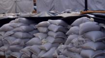 Sandbags Ready For Spring Flood Management