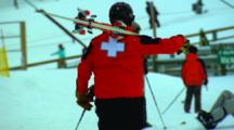 Ski Patrol Walks To Shack