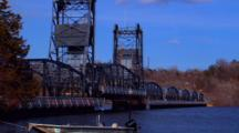 Flood Waters Rise Under St. Croix River Bridge
