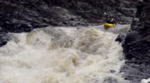 Kayak Gorge On Rushing River