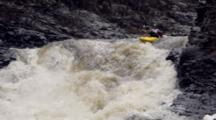 Kayak Gorge On Rushing River