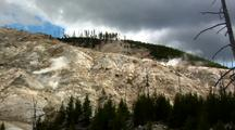 Roaring Mountain Yellowstone National Park Scenic
