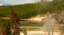 Yellowstone National Park Thermal Scenic Near Twin Lakes
